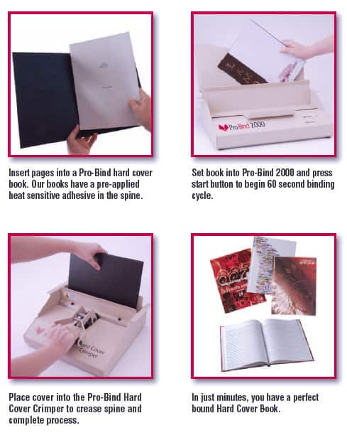 Hard Cover Book With Thermal Binding